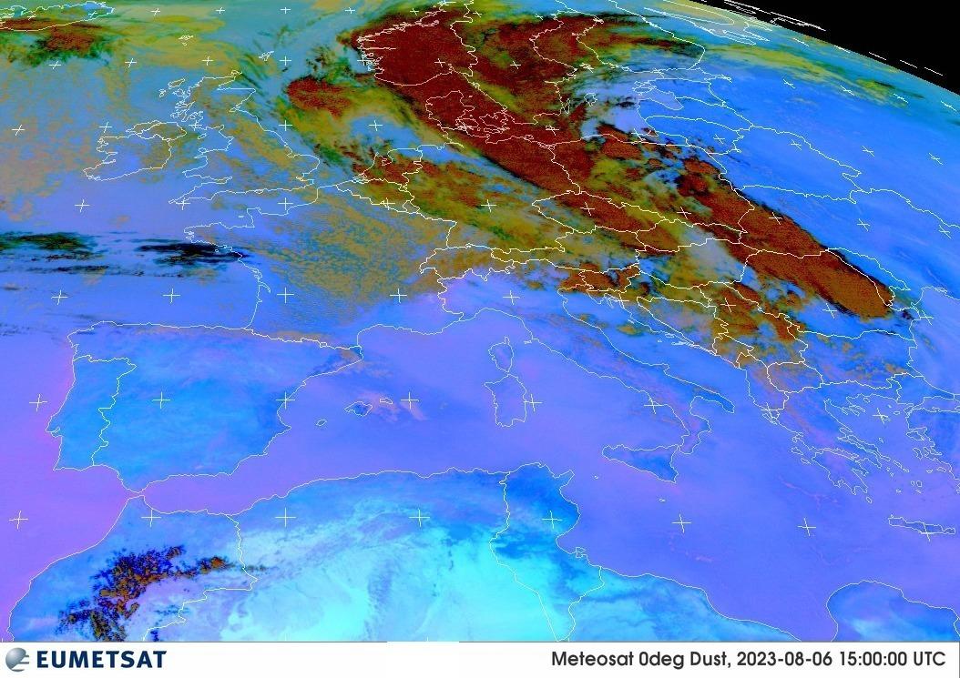 Pulviscolo atmosferico da satellite