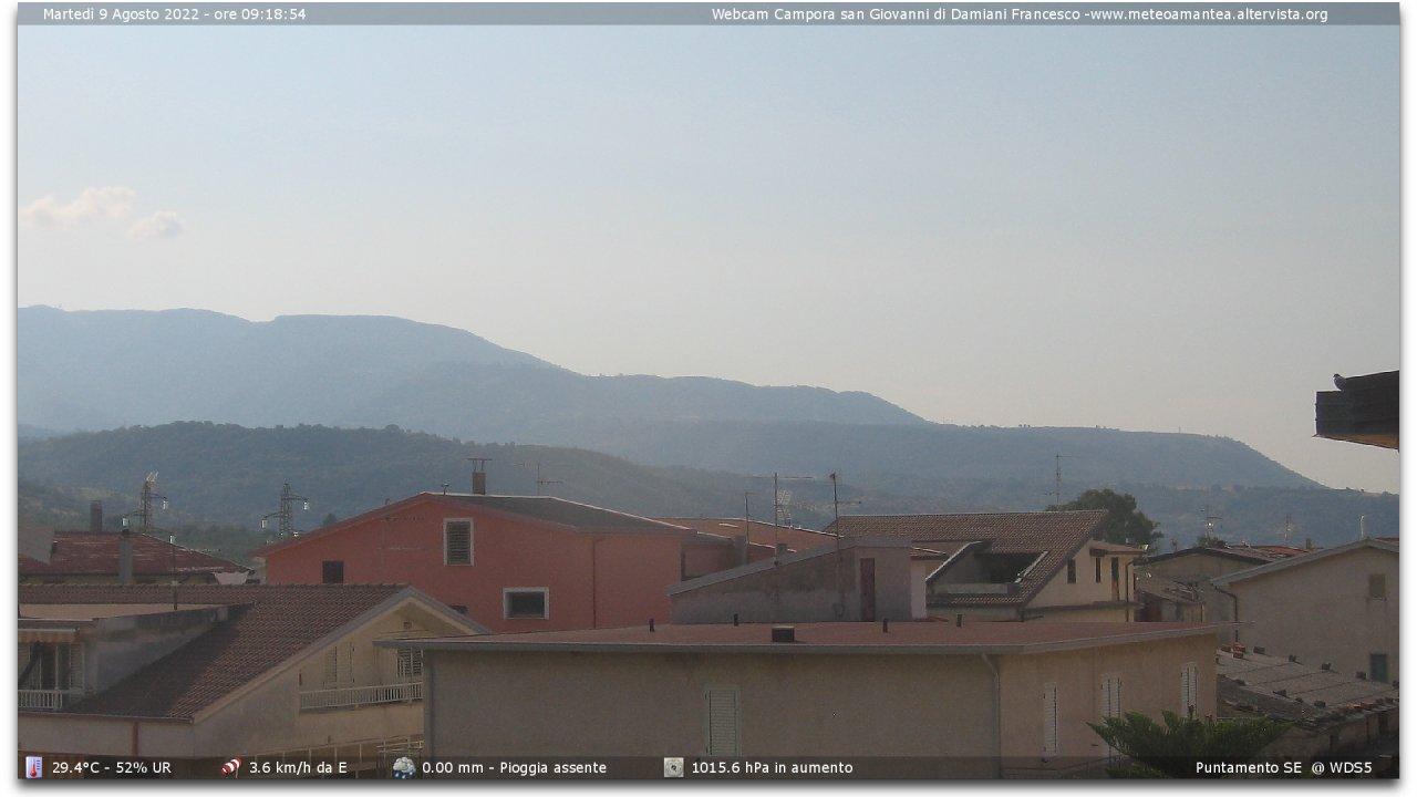 Webcam di Campora San Giovanni