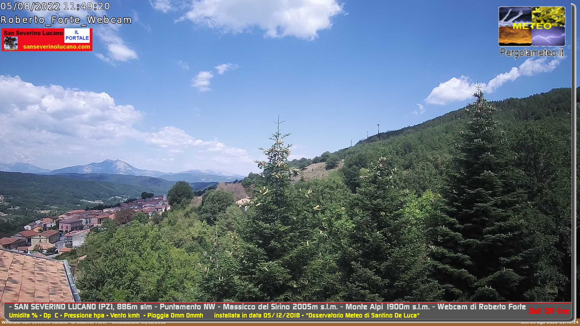Webcam di San Severino Lucano (PZ)