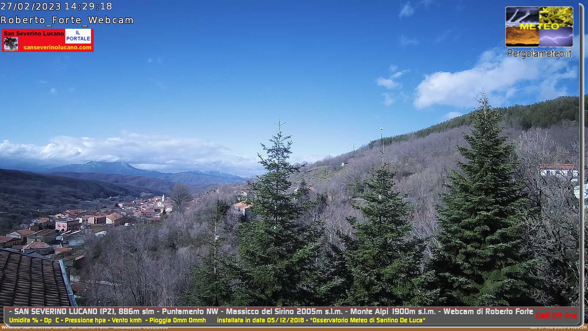Webcam di San Severino Lucano (PZ)