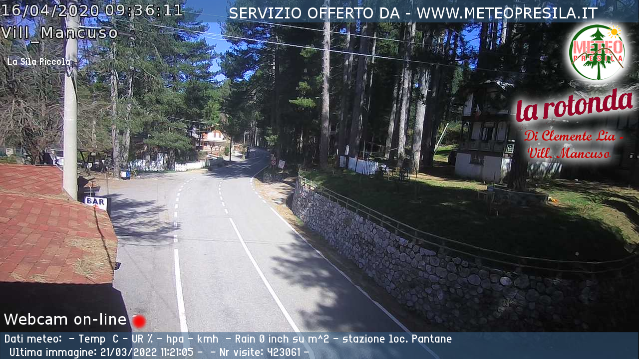 Webcam di Taverna - Villaggio Mancuso