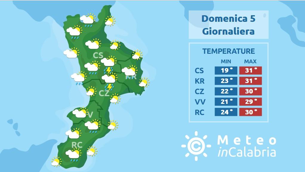 Sulla Calabria ancora possibili fenomeni instabili