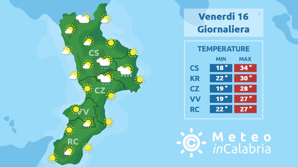 Caldo e tempo soleggiato sulla Calabria