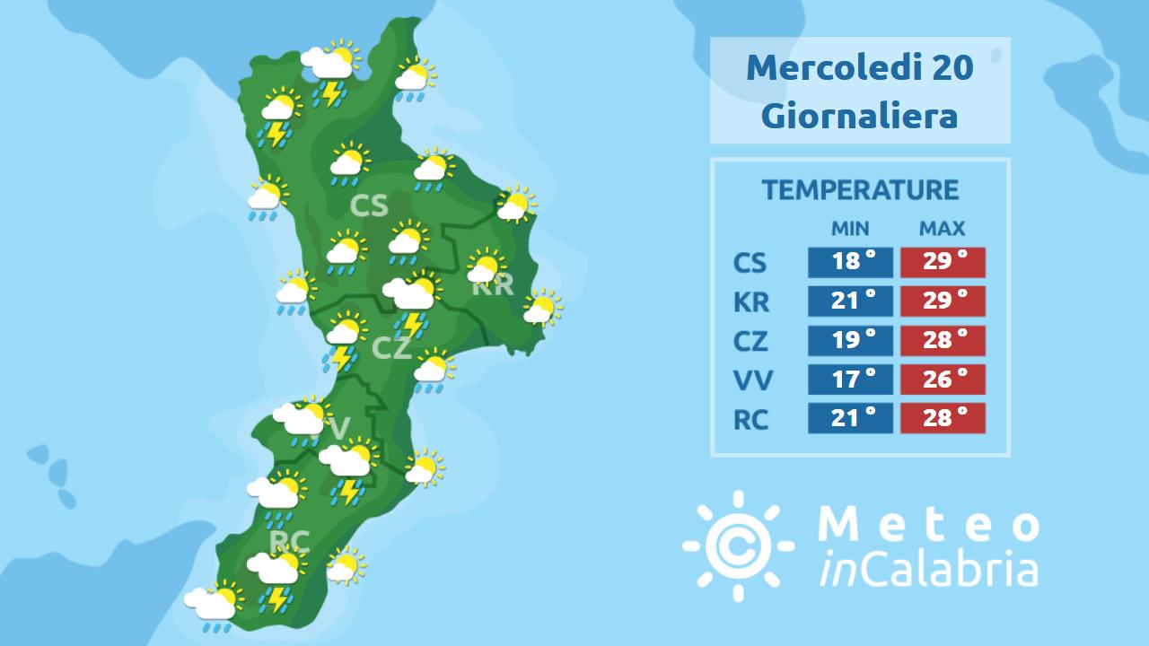 Ancora instabilità sulla Calabria