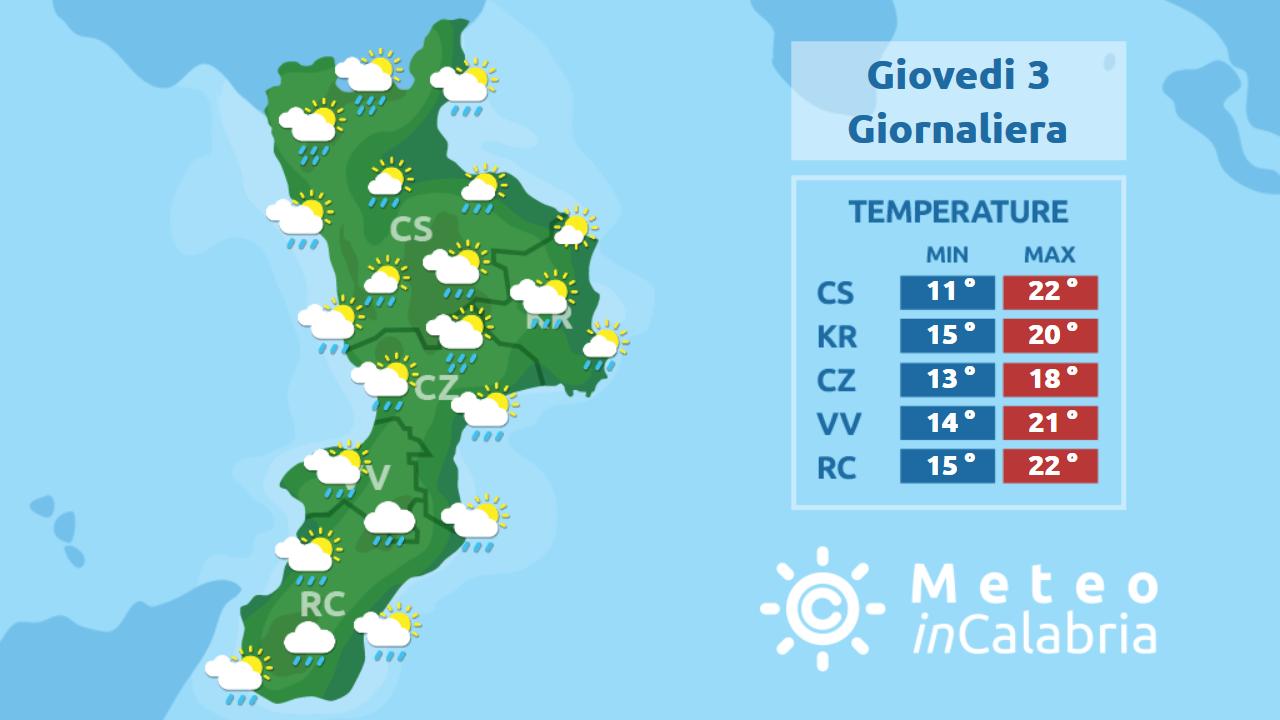 Peggioramento del tempo sulla Calabria