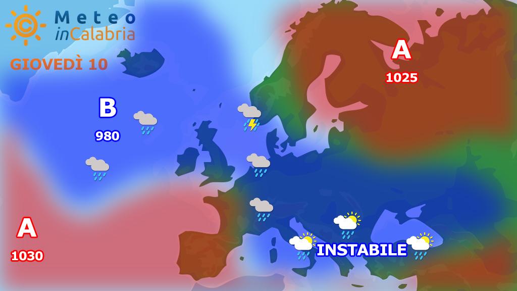 Prosegue l'instabilità pomeridiana sulla Calabria