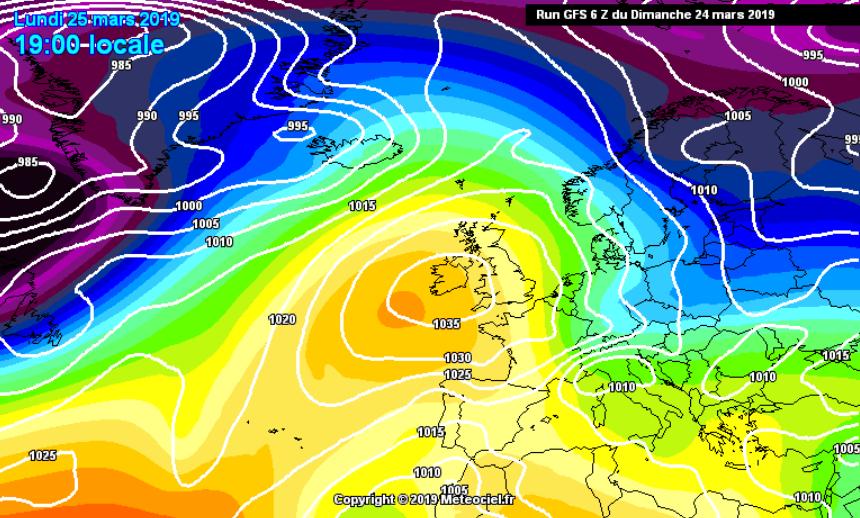 L'inizio settimana sarà caratterizzato dalla discesa di un impulso freddo artico-marittimo