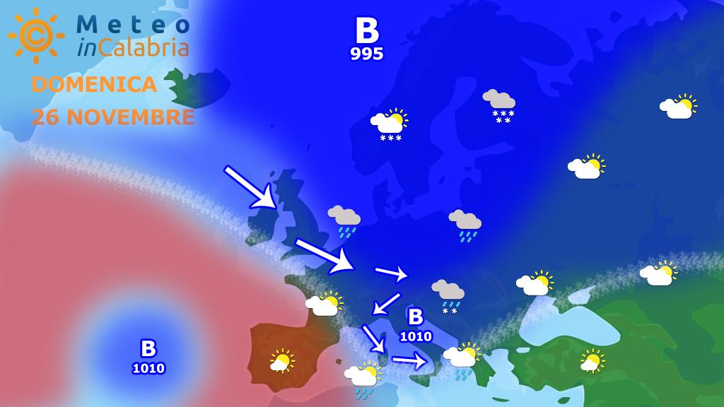 Fra domenica e lunedì piogge sulle tirreniche