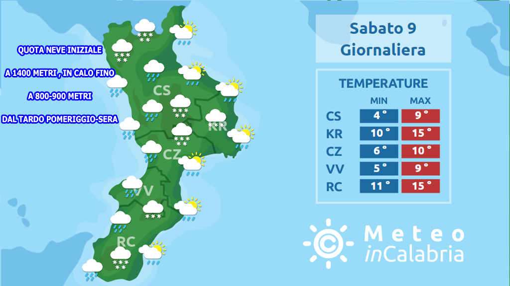 Ultime ore di bel tempo in Calabria