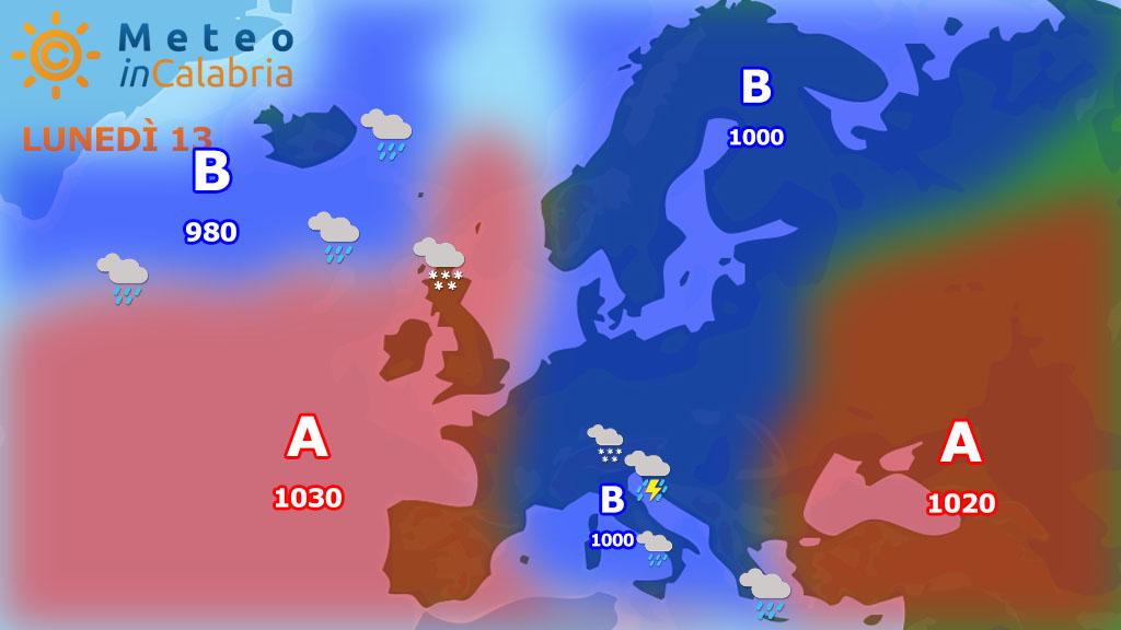Previsioni meteo: in arrivo nuovo maltempo a più fasi