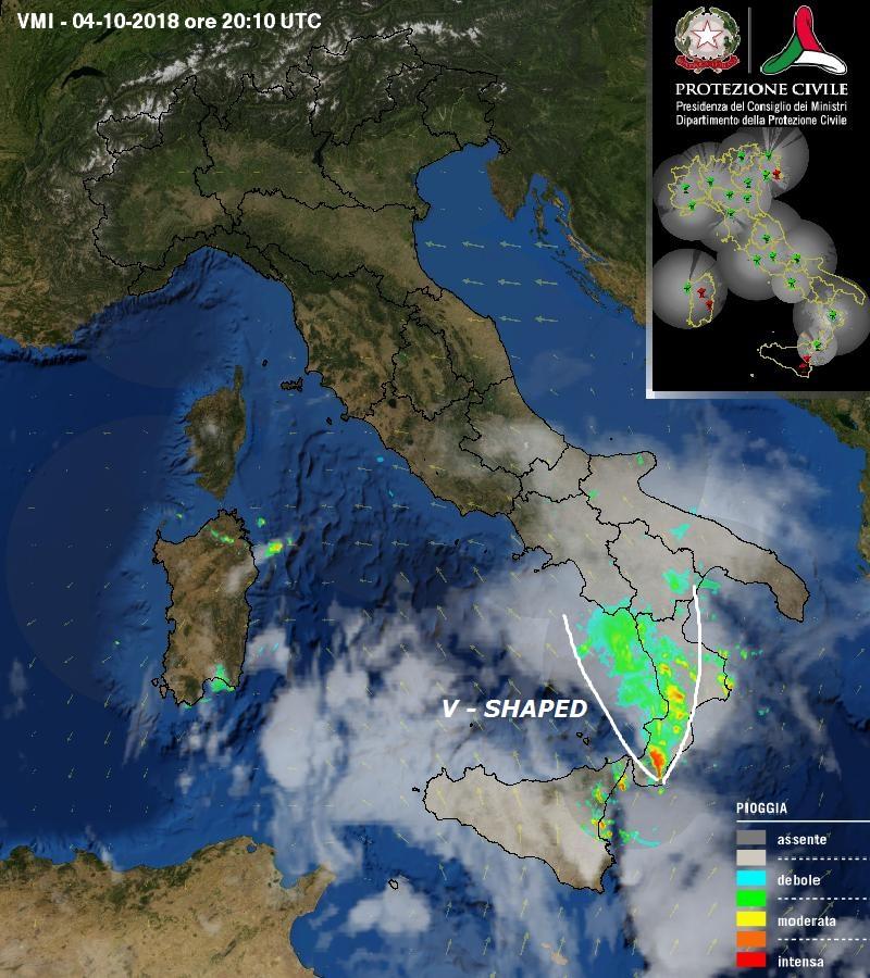 Intensi nubifragi in Calabria