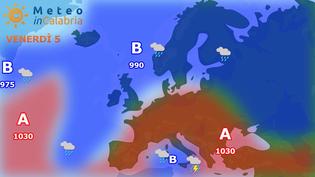 Previsioni meteo: instabilità a tratti perturbata