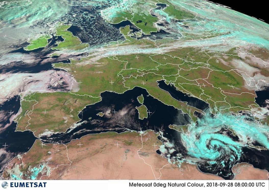Un ciclone tropicale nel Mediterraneo