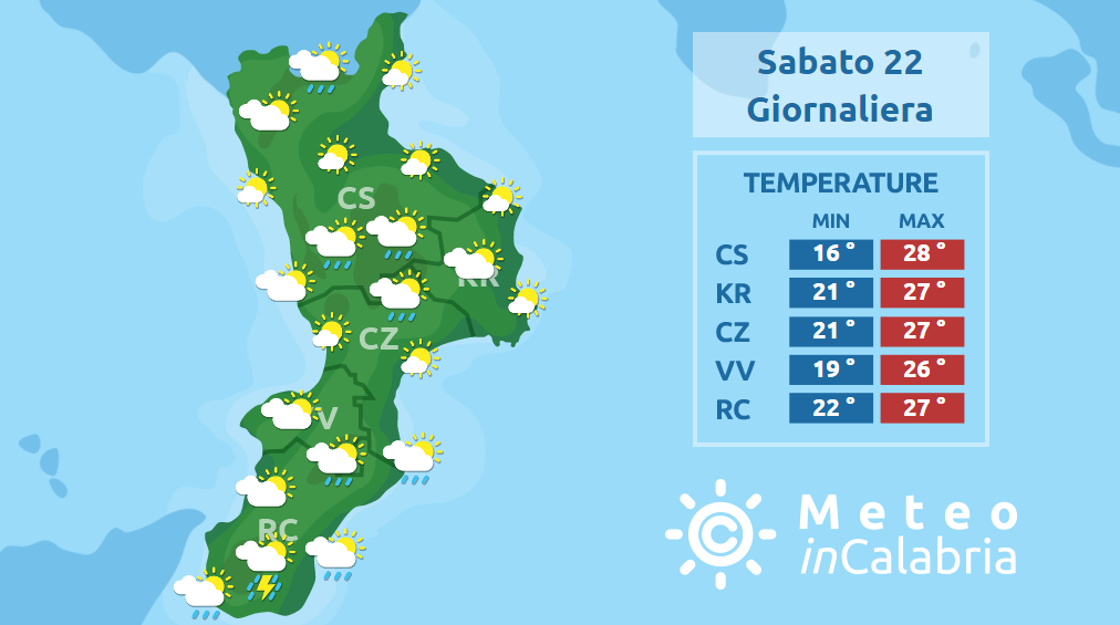 Ancora localmente instabile sulla Calabria