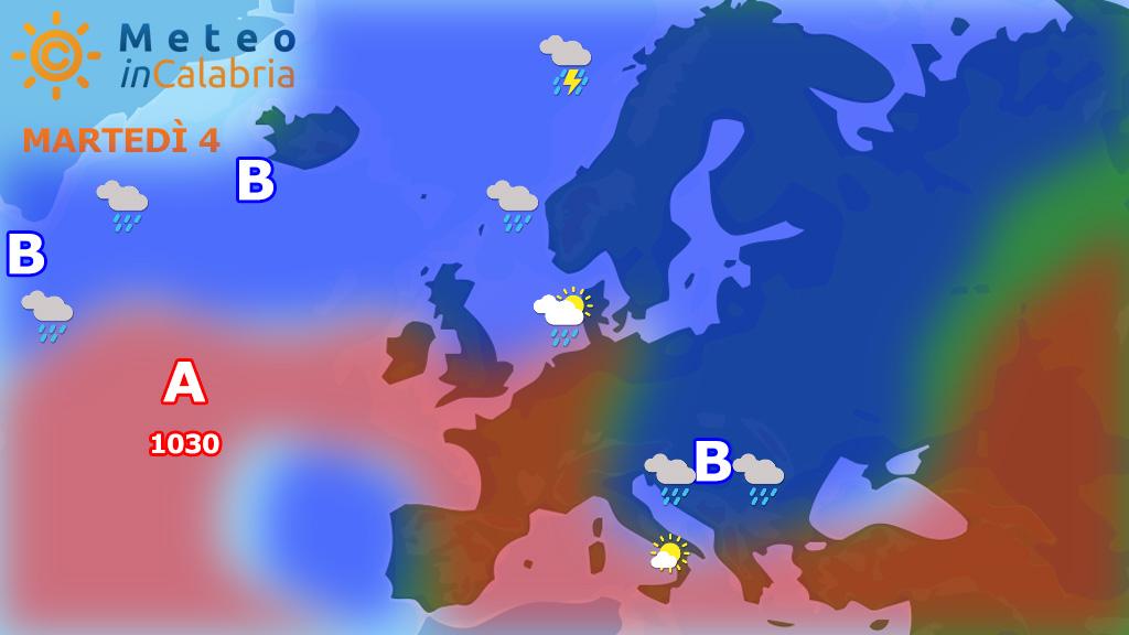 Qualche nuvola sui settori tirrenici