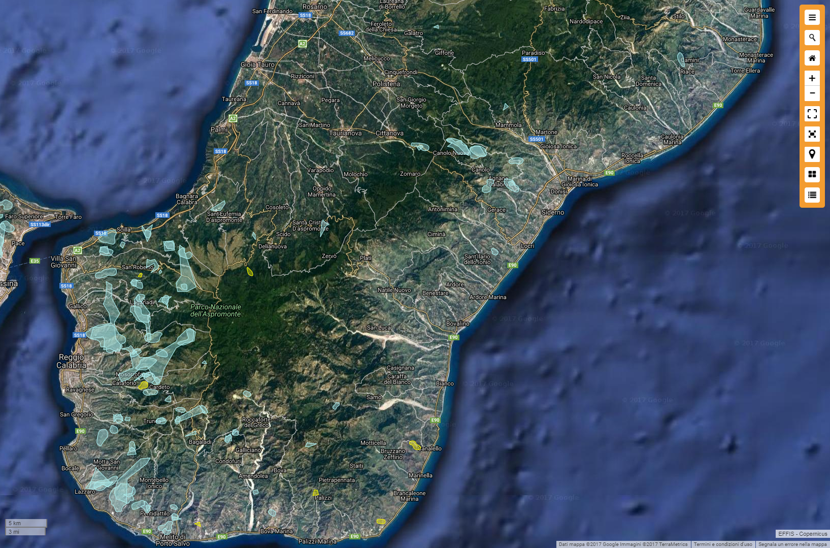 Incendi dell'estate 2017 in Calabria