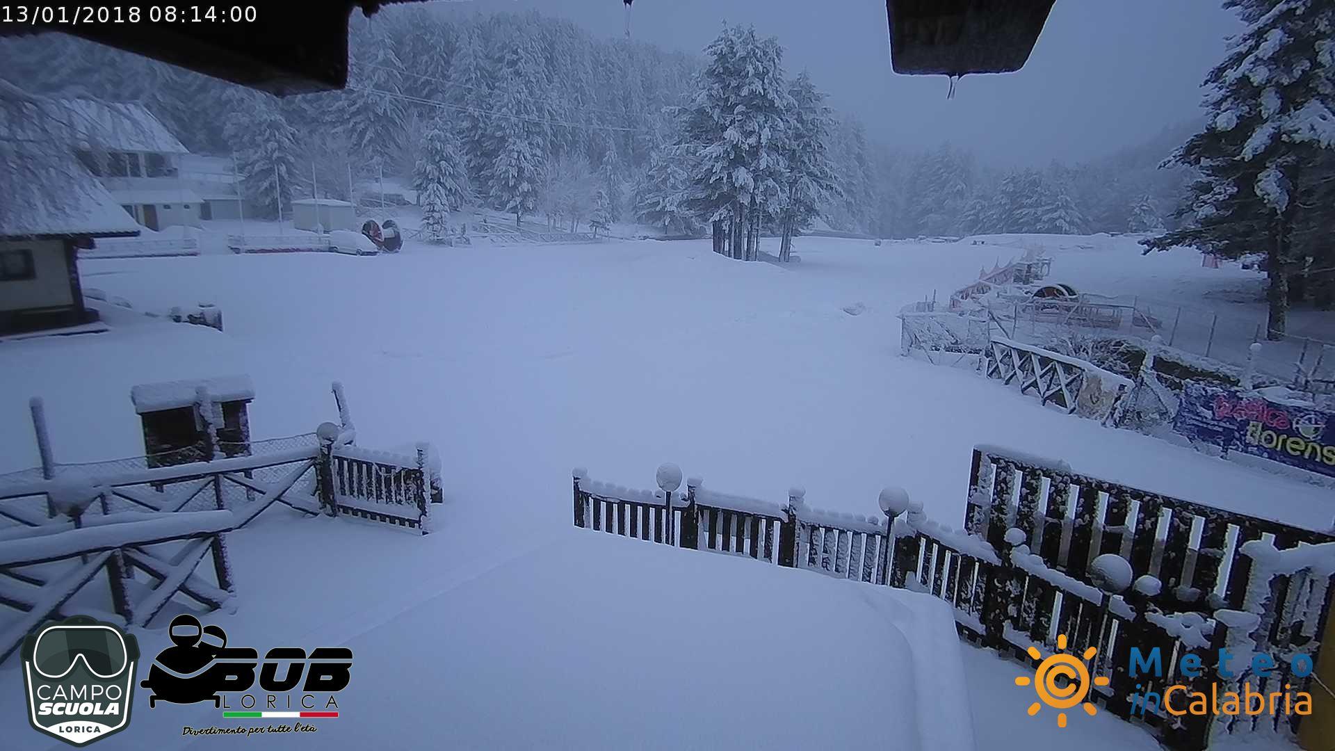 E' tornata la neve sui rilievi calabresi