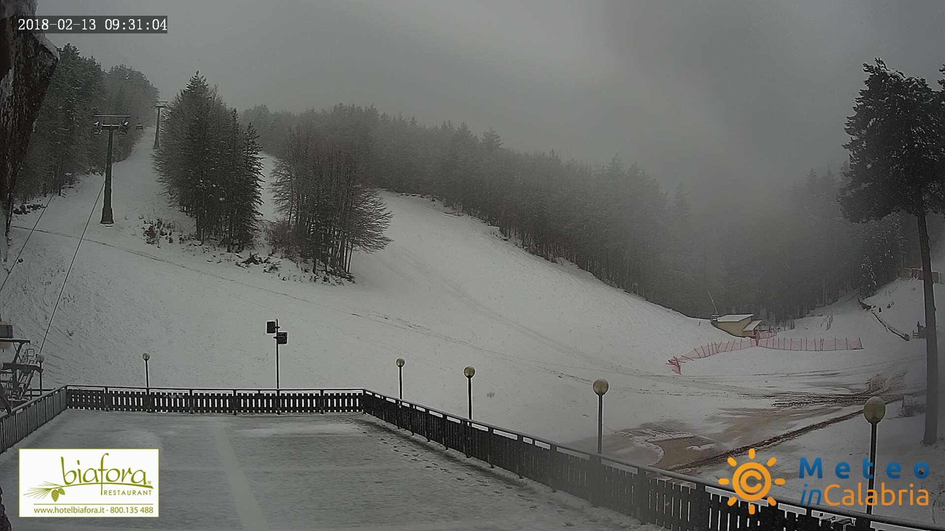 Riprende a nevicare sui monti della Calabria