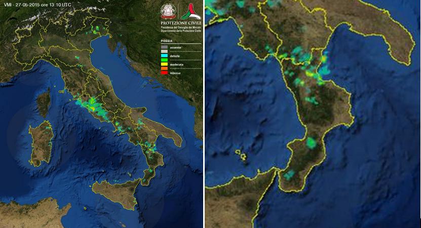 La Calabria sotto la pioggia!