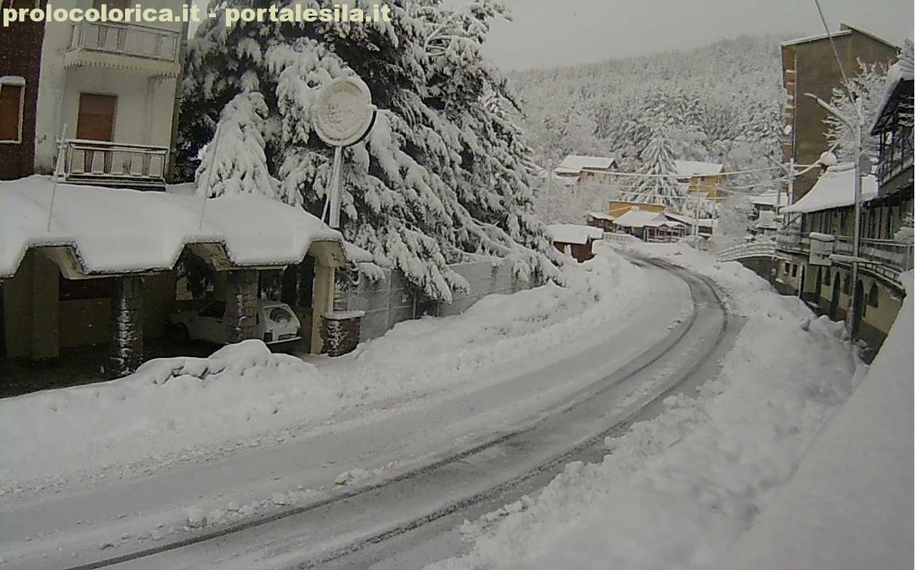 Le nevicate di stanotte in Calabria