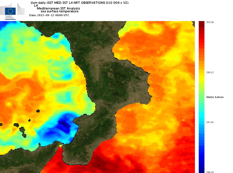 Uno sguardo alla temperatura dei mari