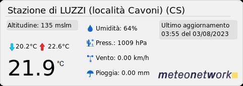 Stazione meteo di Luzzi