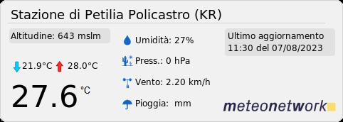 Stazione meteo di Petilia Policastro