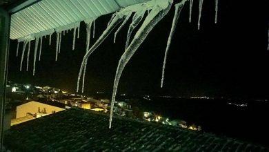 Le fredde temperature di lunedi 9 febbraio