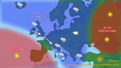 Da domani nuova perturbazione atlantica con neve sui monti