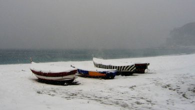 Intensa ondata di GELO lunedi! Fiocchi di neve fin sulle coste