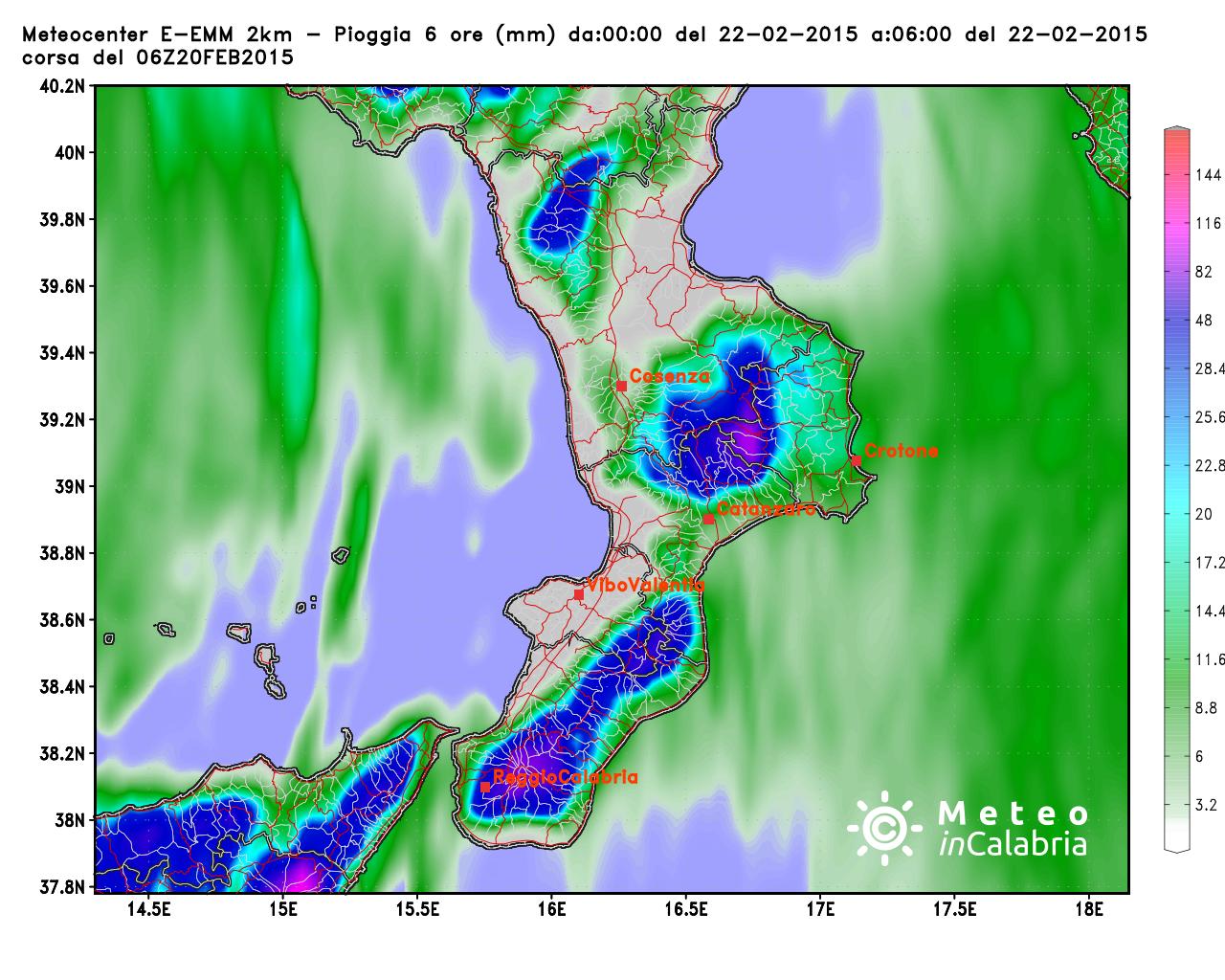 Le abbondanti piogge di stanotte in Calabria