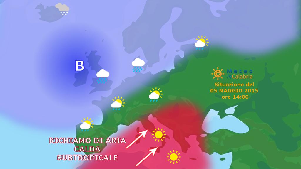 Inizia la fiammata di aria subtropicale!