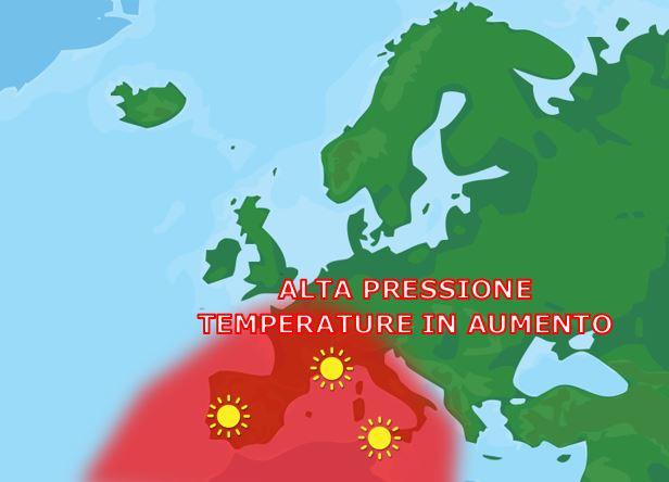 Bel tempo e temperature in aumento