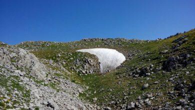 Lo stato del nevaio del Pollino in questa estate 2015