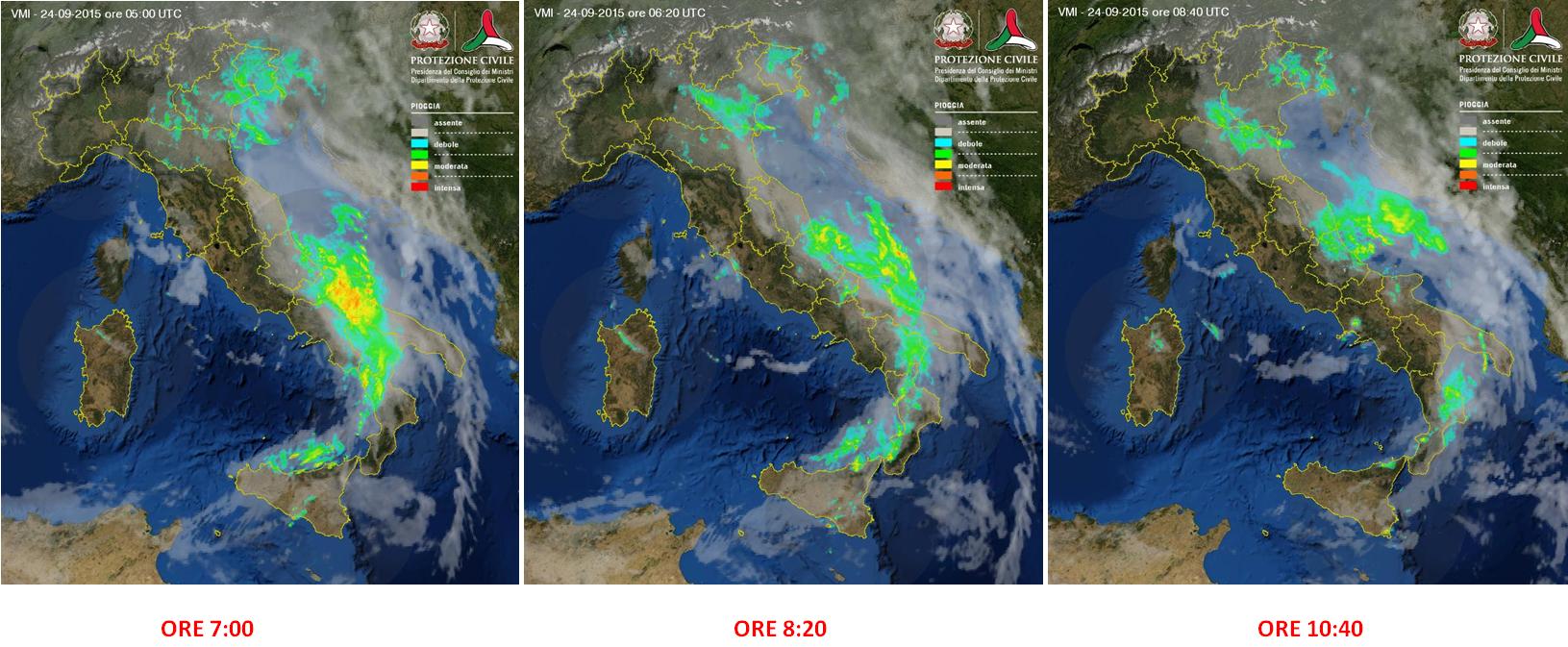 Sulla Calabria il transito del fronte freddo