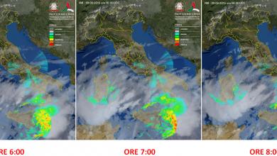 Notte di piogge su quasi tutta la Calabria