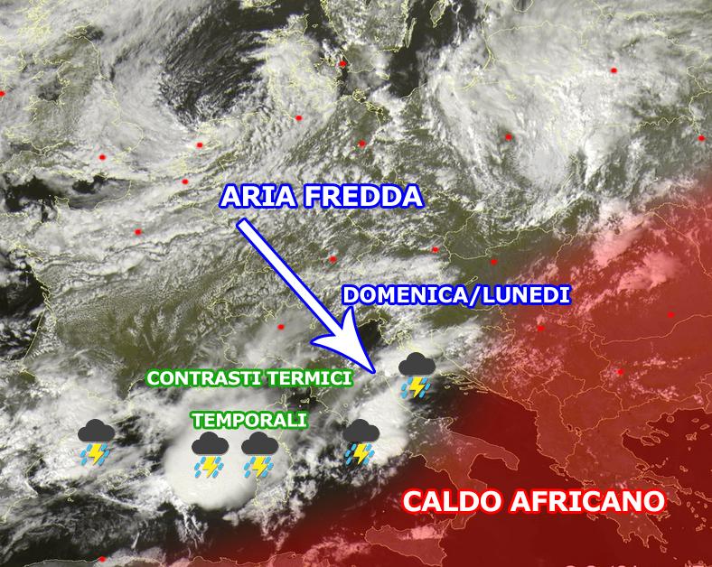 Italia spezzata in due: AUTUNNO al centro-nord; CALDO AFRICANO al sud