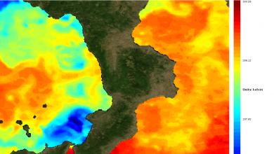 Uno sguardo alla temperatura dei mari: Tirreno in media, Ionio ancora caldo.
