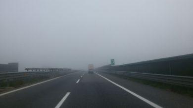 Locali banchi di nebbia sulla A3