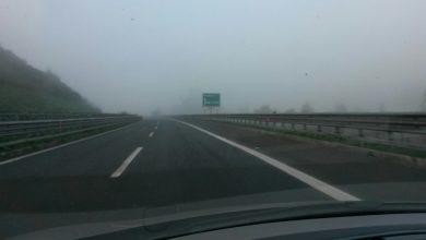 Ancora nebbia stamane sulla A3 nelle valli del Mesima e del Crati