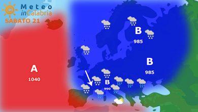 Ultime ore di stabilità e temperature miti, l'inverno irrompe sul mediterraneo