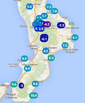 Nelle prossime ore ulteriore calo delle temperature !!!