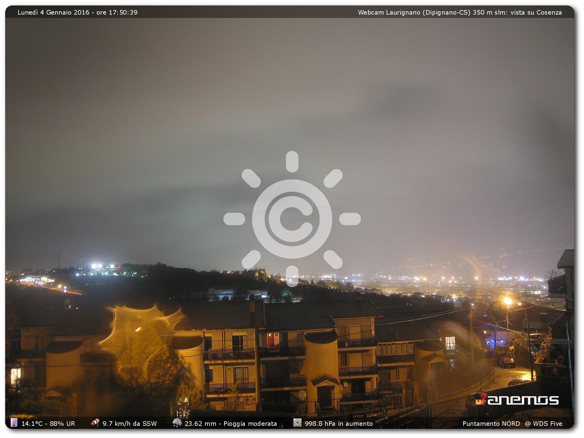 Piogge intense sul Cosentino