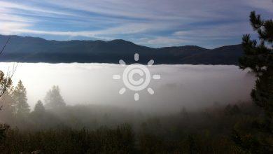 Una serena mattinata invernale...con -8° sui monti...