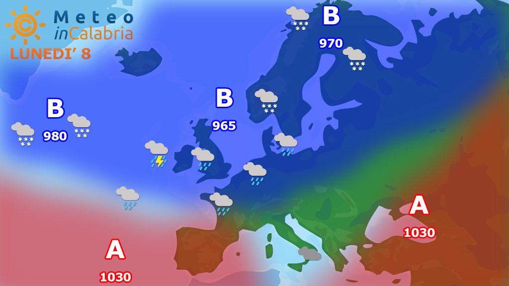 Debole passaggio instabile con isolate precipitazioni