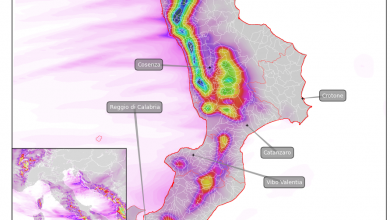 Ennesimo impulso atlantico: piogge abbondanti domani sul cosentino!