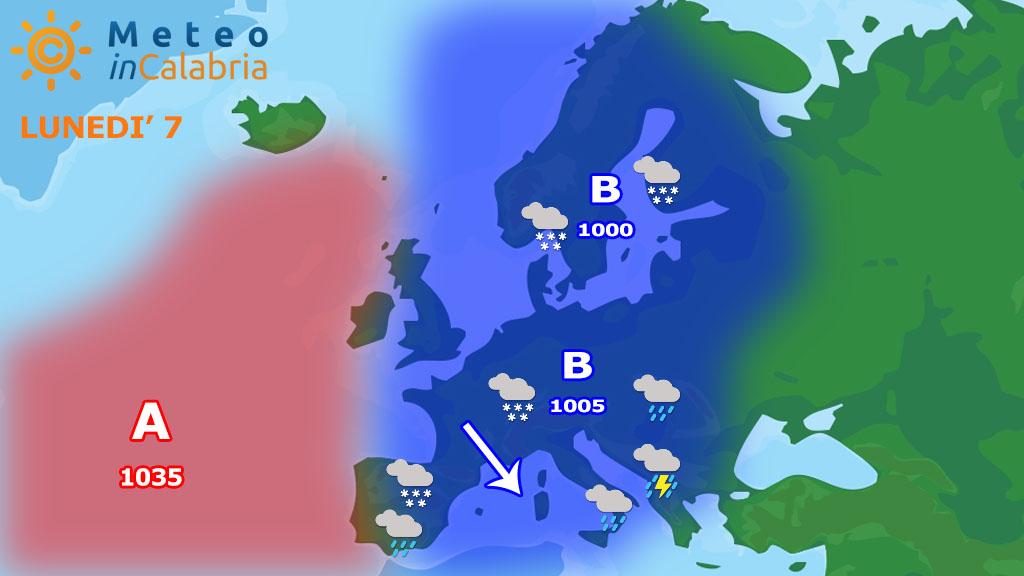 Condizioni di instabilità con tregua dei fenomeni domani