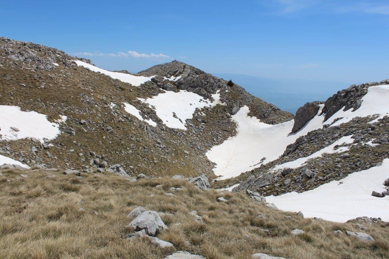 Il nevaio del Pollino ridotto al minimo...e siamo solo in aprile!