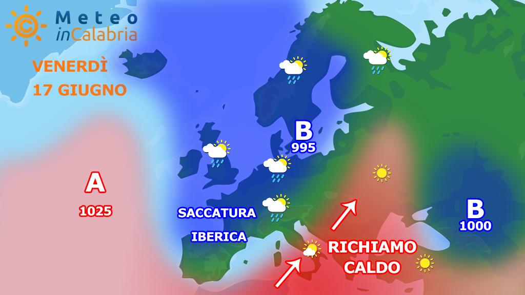 Il tempo di VENERDì e SABATO: ancora nel segno del caldo africano...