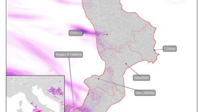 Maltempo imminente sulla Calabria, ma non ovunque...